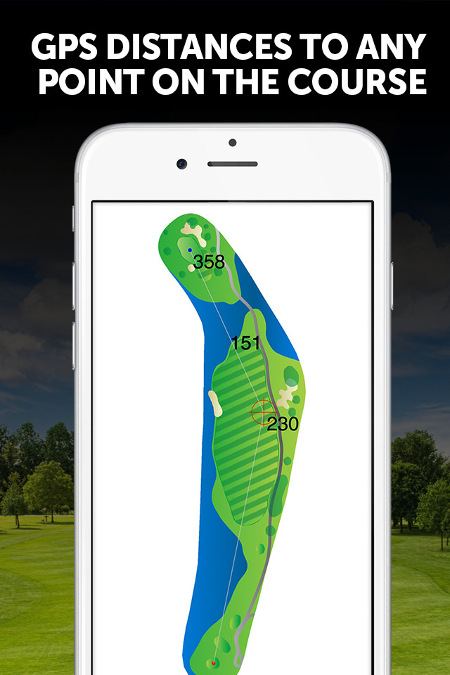 Golf GPS Distance to ANY Point on the Course