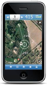iPhone Golf GPS App with Aerial Imagery