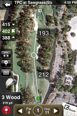Golf GPS App with Aerial Imagery