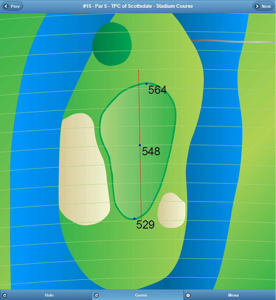 Professionally Mapped Golf GPS App Green View