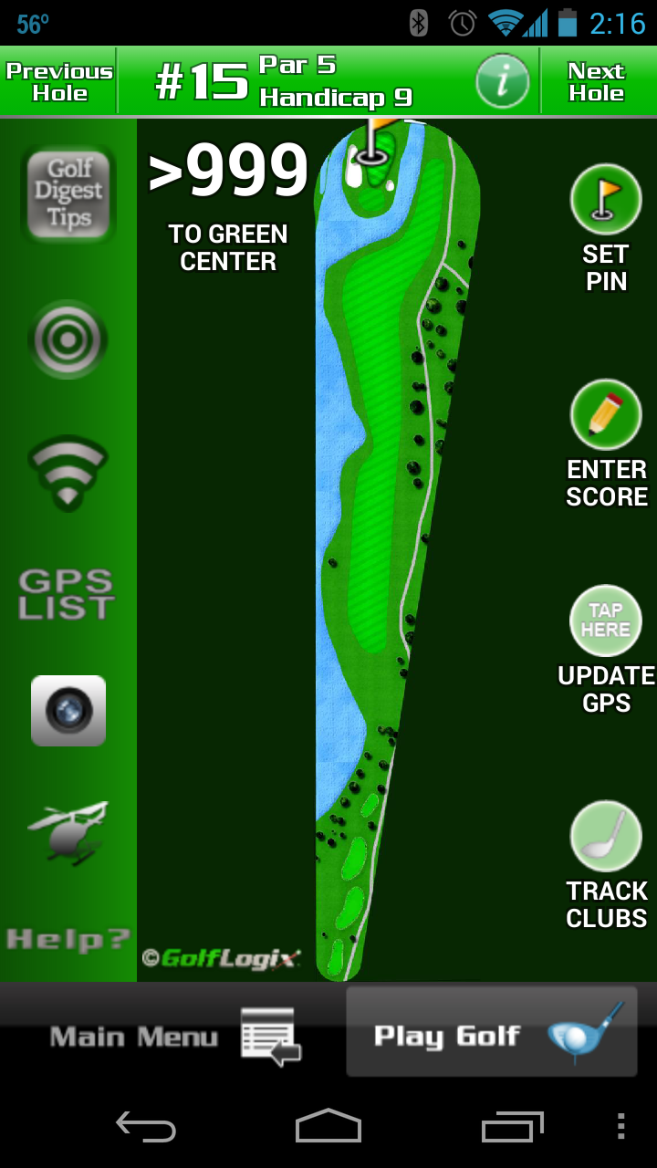 Golf Logix Golf GPS App Screenshot