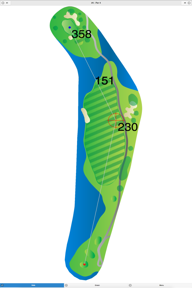 Golf GPS App Hole 3 Screenshot