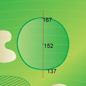 Rancho Manana Golf Course Hole 4 GPS Map Green View