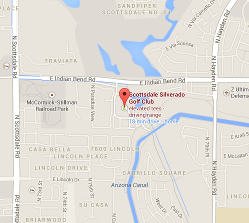 Scottsdale Silverado Golf Club Map