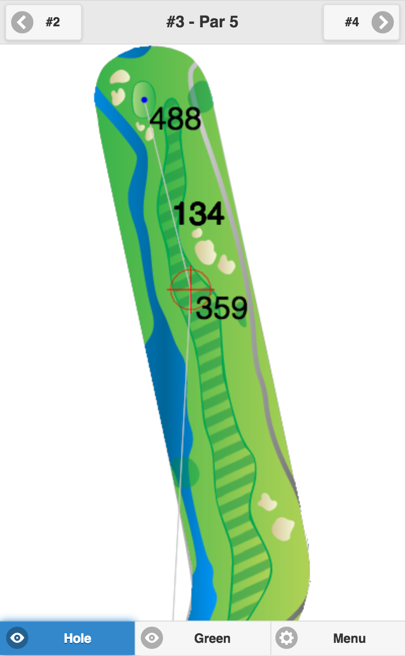 Golf GPS Usability - Map Mode Balanced Fit