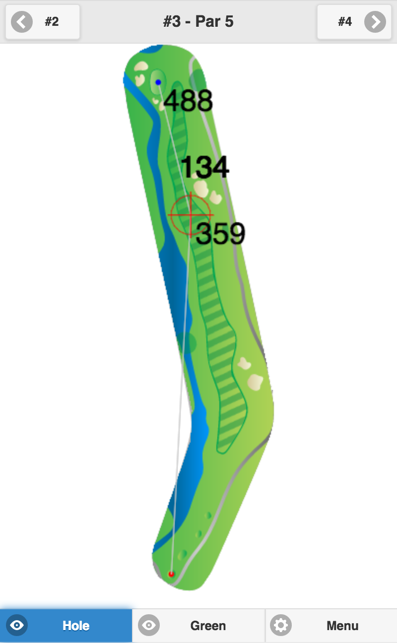 Golf GPS Usability - Map Mode fit to height