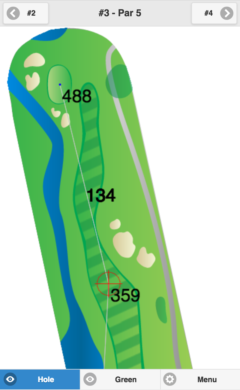 Golf GPS Usability - Map Mode Fit to Width