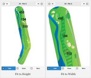 Golf GPS Usability - Variable Map Displays