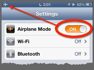 Golf GPS Airplane Mode