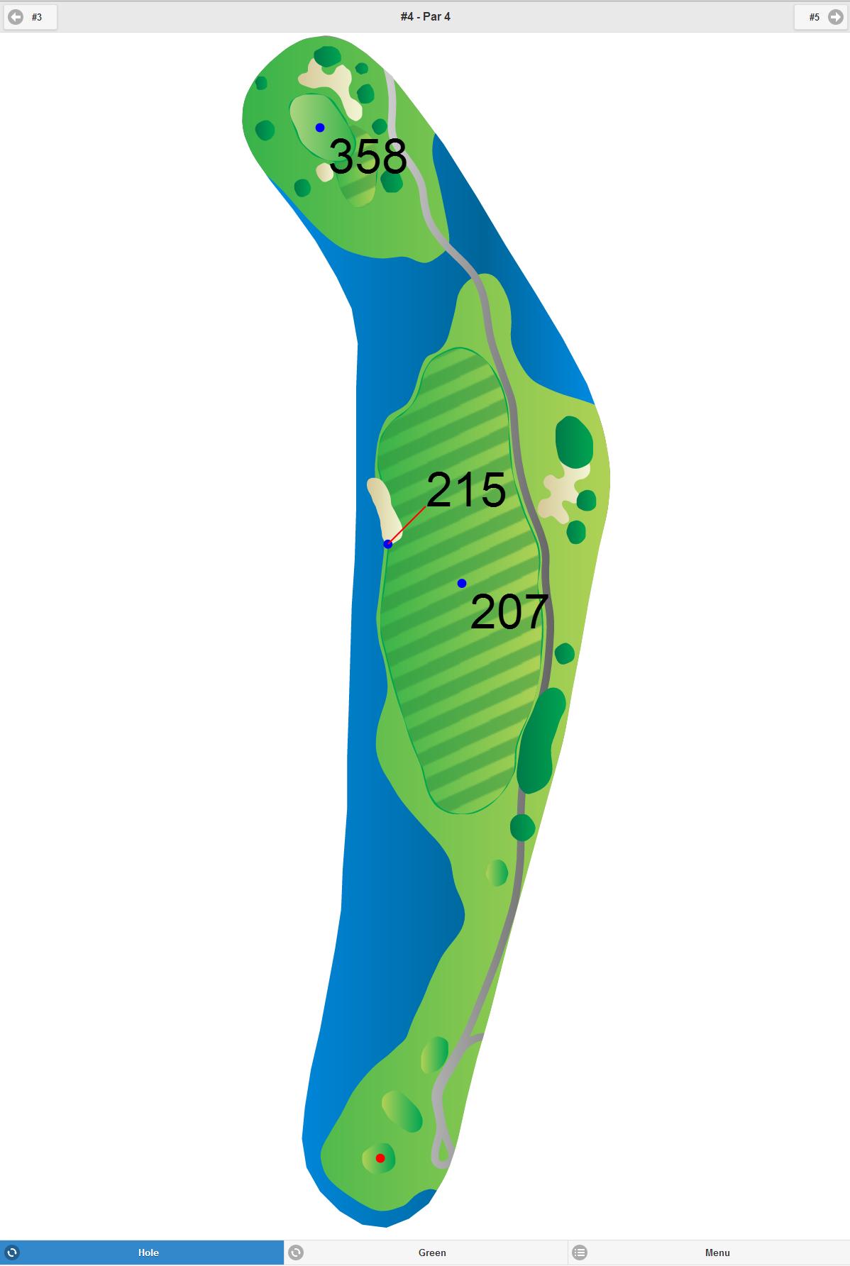 Golf GPS App Screenshot